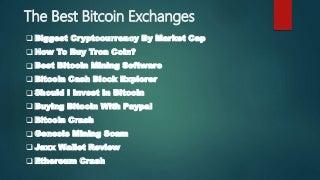 The best bitcoin exchanges