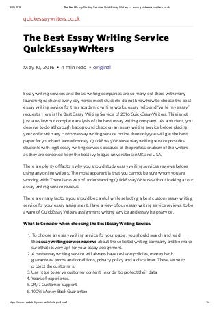 The best essay writing service quickessaywriters — www.quickessaywriters.co.uk