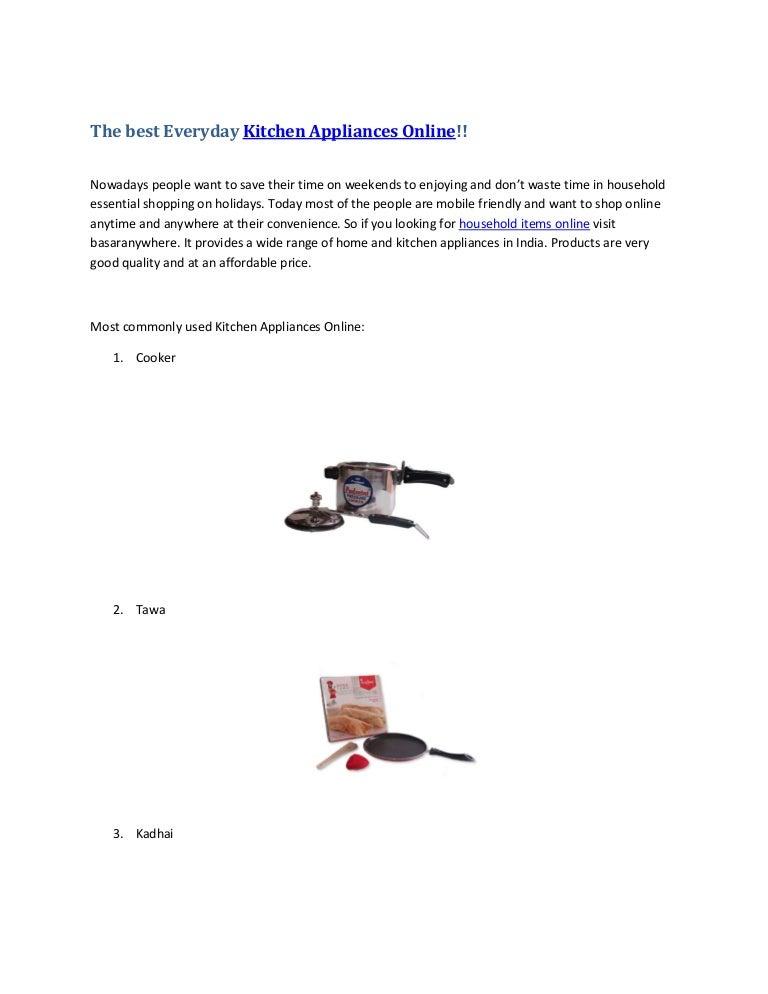 The Best Everyday Kitchen Appliances Online