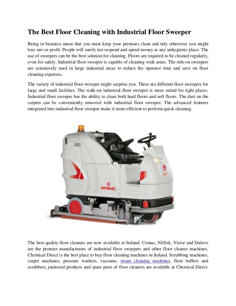 The Best Floor Cleaning With Industrial Floor Sweeper - Small industrial floor cleaning machines