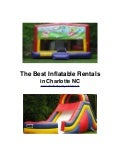 The Best Inflatable Rentals in Charlotte NC