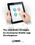 The best of the strategies for enterprise mobile app development