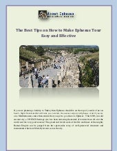 The Best Tips on How to Make Ephesus Tour Easy and Effective