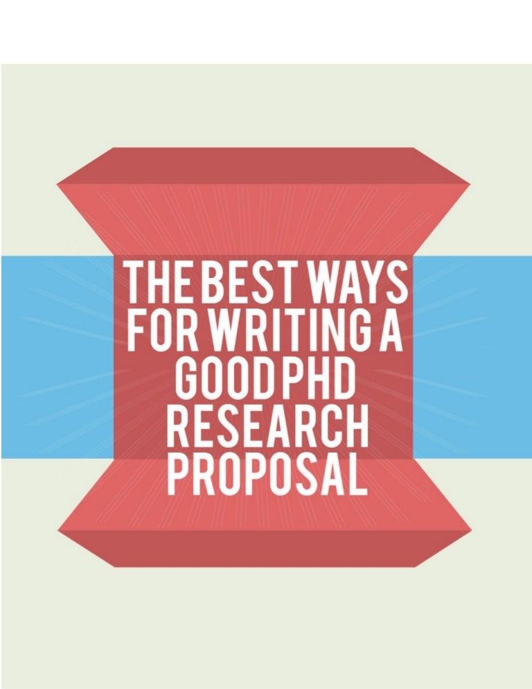 Good phd proposal