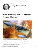 The Bombs Will Fall on Iran's Nukes