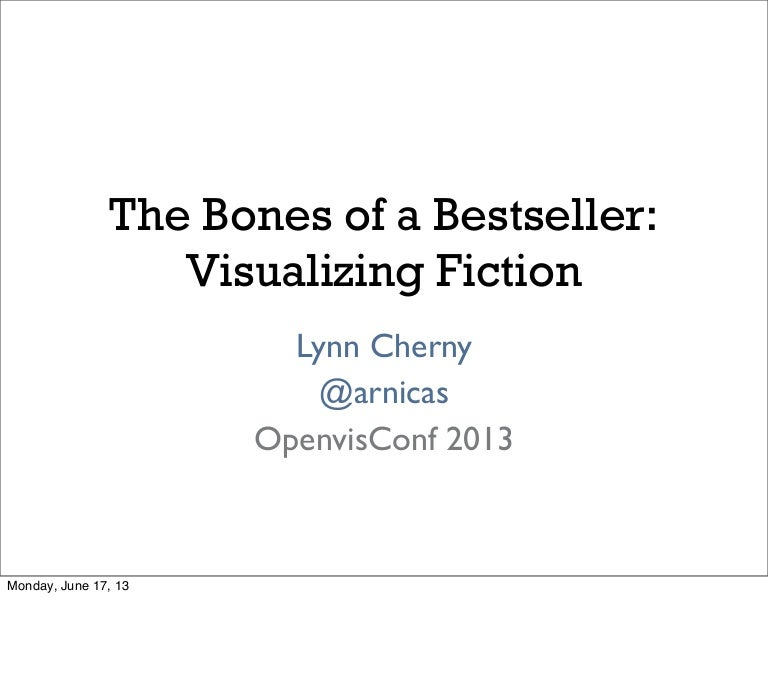The Bones Of A Bestseller Visualizing Fiction