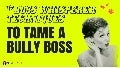 The boss whisperer techniques to tame a bully boss rahila narejo