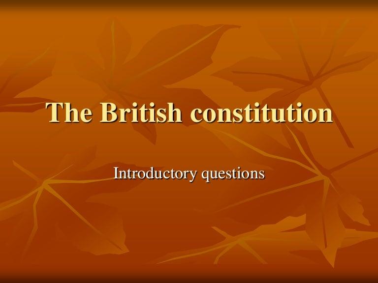 importance of british constitution