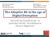 Career implications for the Business Analyst in the age of digital disruption
