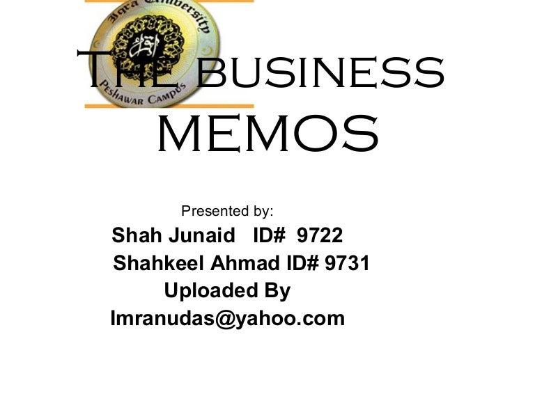 the business memos