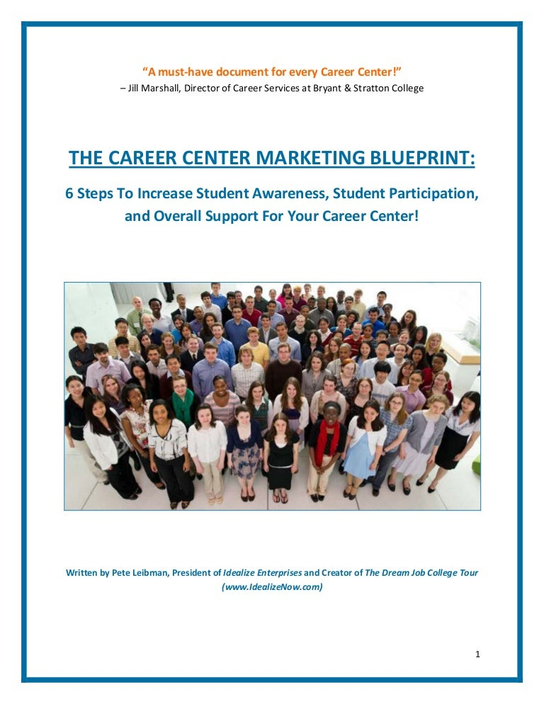 The career center marketing blueprint by pete leibman 2 malvernweather Image collections