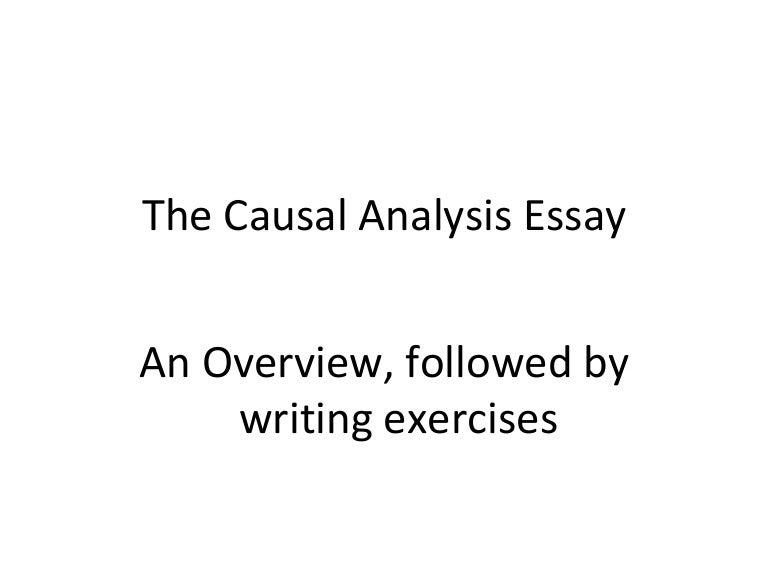 Analysis Essay. The Causal Analysis Essay Brilliant Ideas Of ...