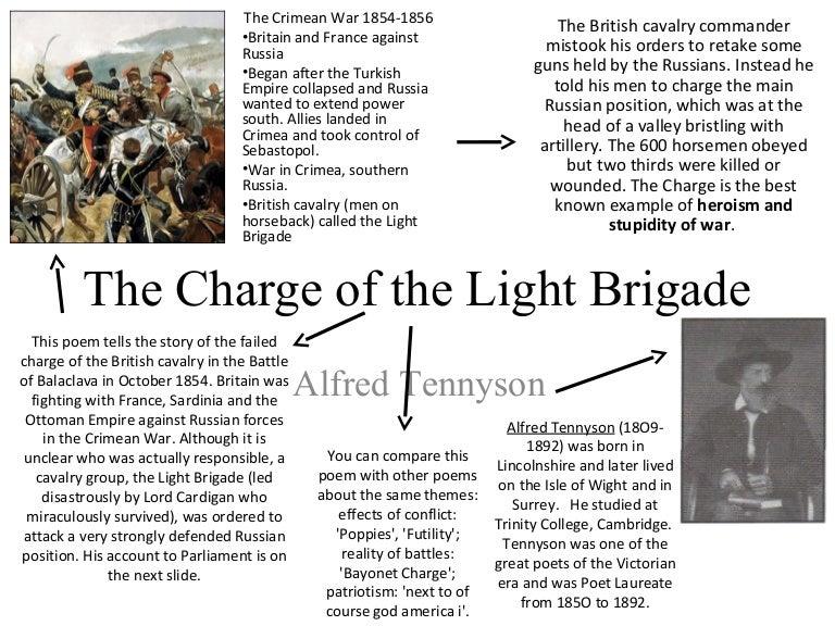 Tennyson charge of the light brigade poem analysis essay Wolosov com