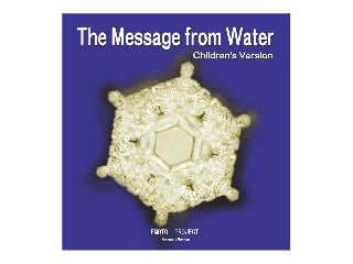 The Message From Water - in English Children's Version