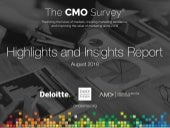The CMO Survey - Highlights and Insights Report - August 2018