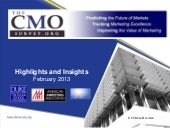 The CMO Survey Highlights and Insights February 2013 - Corrected