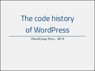 The code history of WordPress