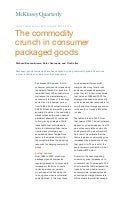 The commodity crunch in consumer packaged goods