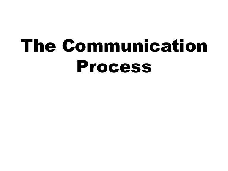 The communication process shs