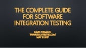 The complete guide for software integration testing | David Tzemach