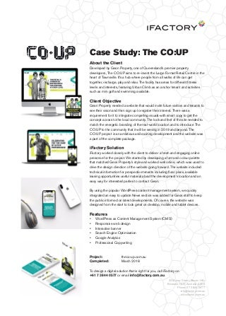 Case Study: The CO-UP website