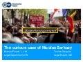 The curious case about nikolas sarkozy