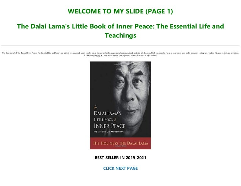 Free [READ] The Dalai Lama's Little Book of Inner Peace: The Essential Life and Teachings Full PDF