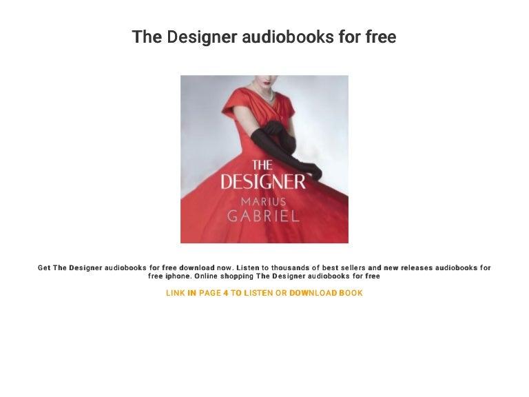 The Designer Audiobooks For Free