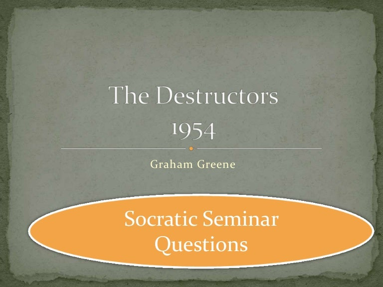 the destructors by graham greene's and This quotation appears in selected answer: the destructors question 39 16 out of 16 points fables are stories about animals that are often used to teach a moral selected answer: tru e question 40 16 out of 16 points edgar allan poe operated from a viewpoint of a personal relationship with god, yet felt that man was divine in his own right.