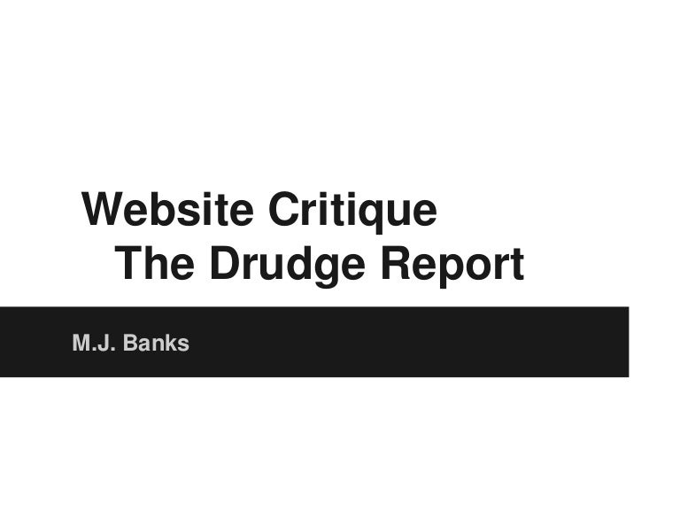 The drudge report report
