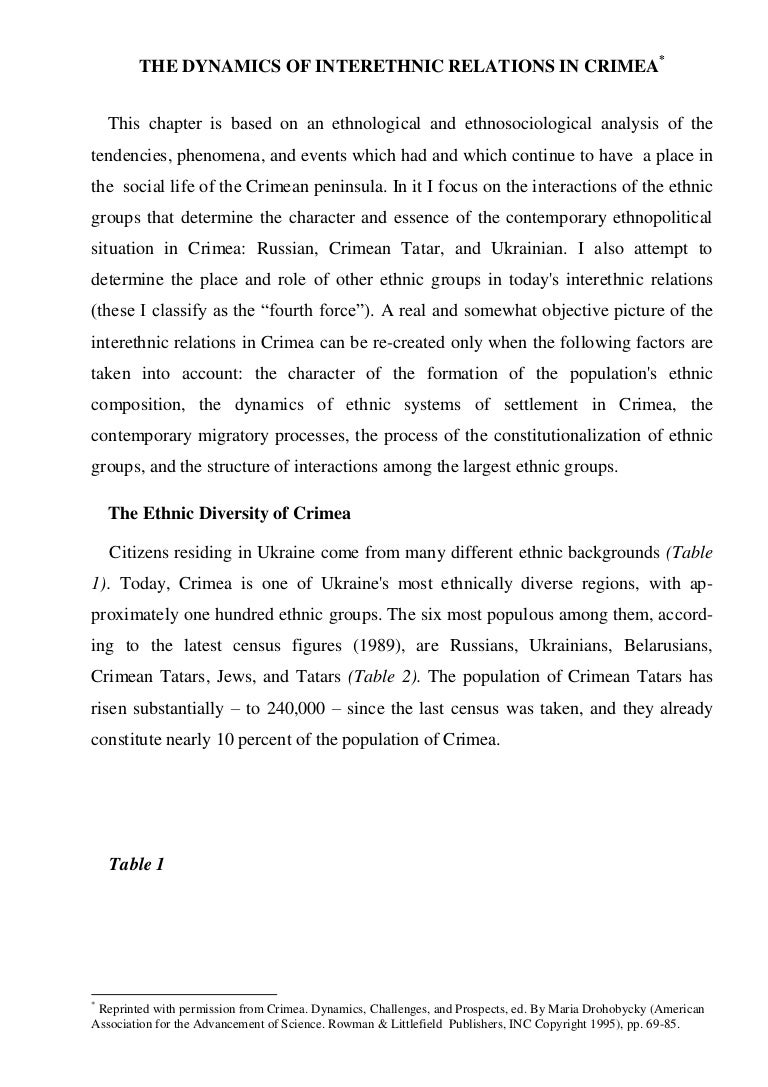 What is the nature of the Tatars The main features of representatives of this ethnos
