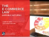 The E-Commerce Act - Republic Act 8792