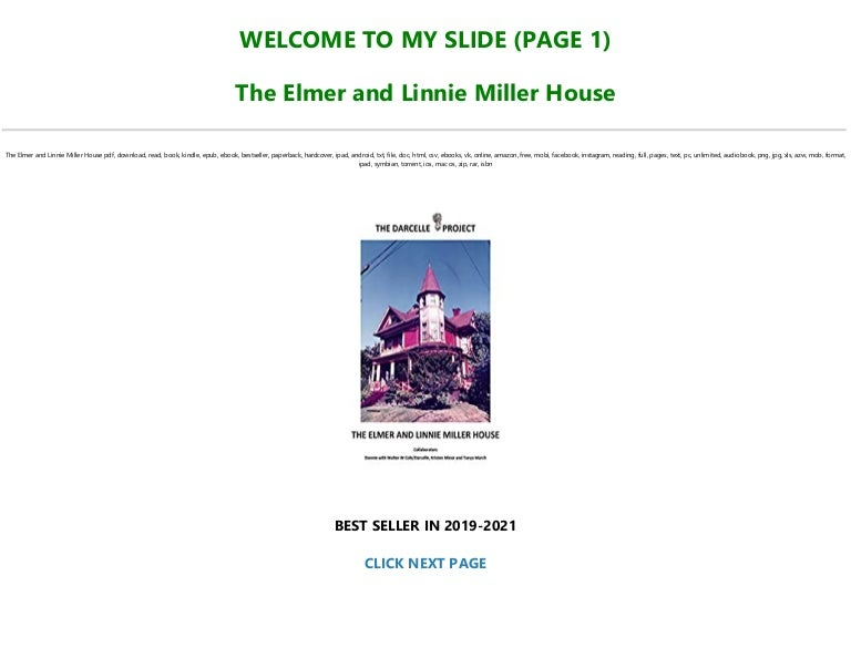 Free [READ] The Elmer and Linnie Miller House Pre Order