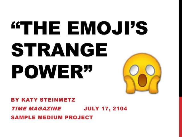 The Emojis strange power Analysis