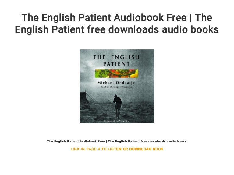 The english patient download free audio books.