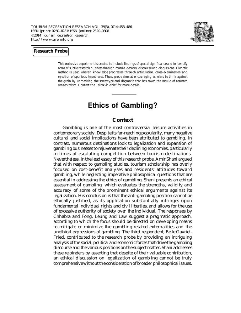 Journal of business research special issue gambling ontario online casino
