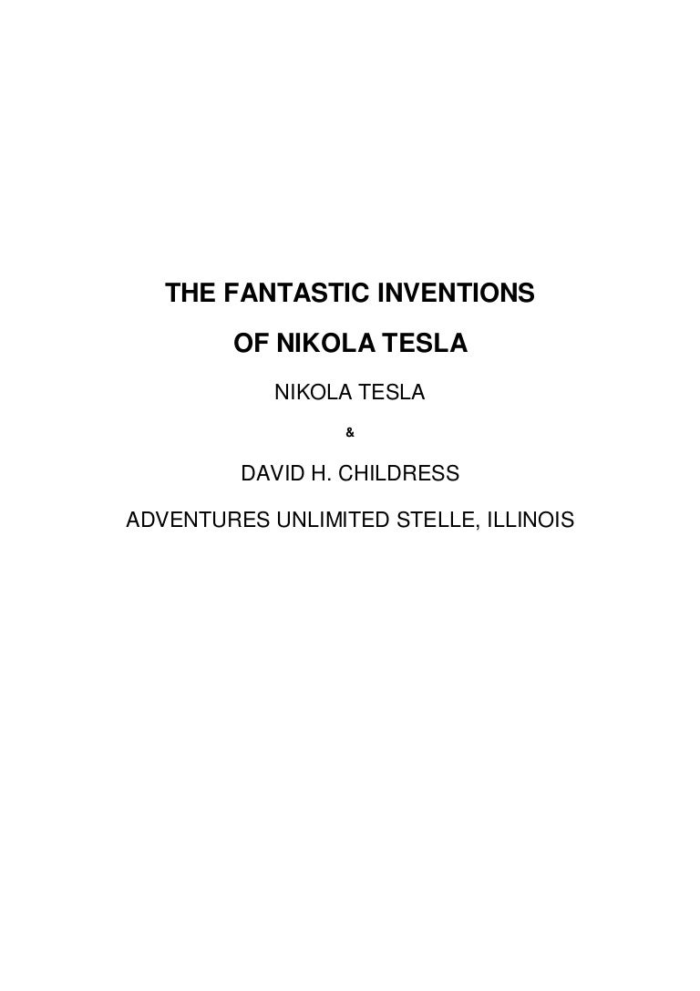 The Fantastic Inventions Of Nikola Tesla By David H Childress Alternating Current Diagram Dynamo Electric Machine