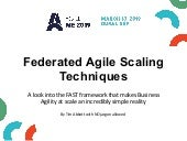 Federated Agile Scaling Techniques – A look into the FAST framework that makes business agility at scale an incredibly simple reality by Timothy Abbott