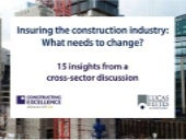 The future for construction insurance: insights from key figures