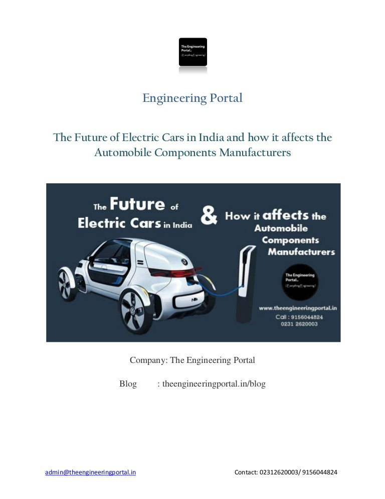 The Future Of Electric Cars In India And How It Affects The Automobil