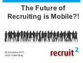 The future of recruiting is mobile!?
