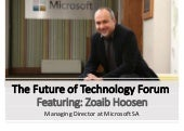 The Future of Technology Interview with Zoaib Hoosen (Managing Director at Microsoft SA)