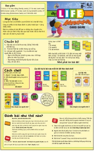 [BoardgameVN] Luật chơi The game of life adventure card game