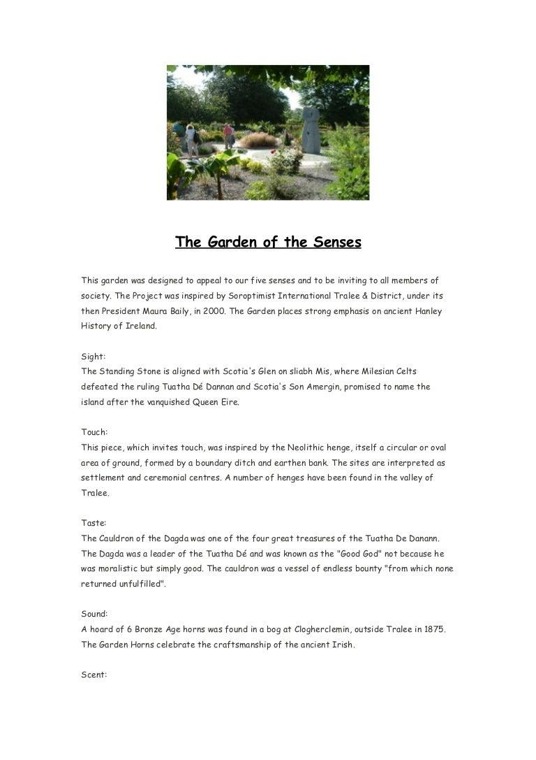 The garden of the senses