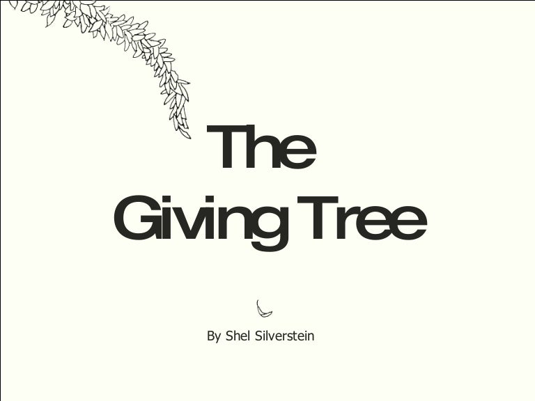 The Giving Tree Coloring Pages