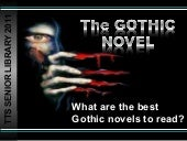 The gothic best books to read 2011 12
