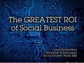 The Geatest ROI for Social Business