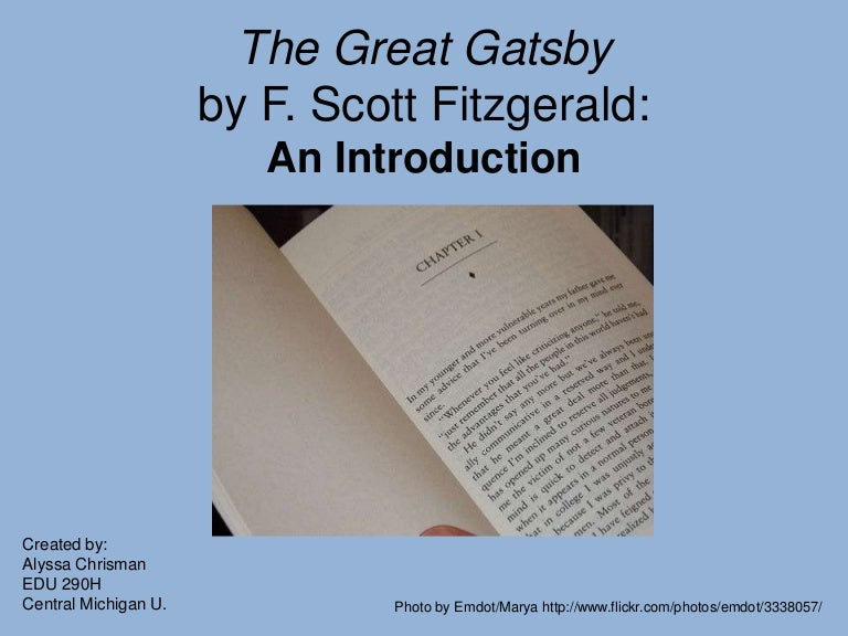 the great gatsby powerpoint. Black Bedroom Furniture Sets. Home Design Ideas