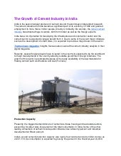 The growth of cement industry in india