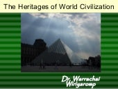 The heritages of world civilization